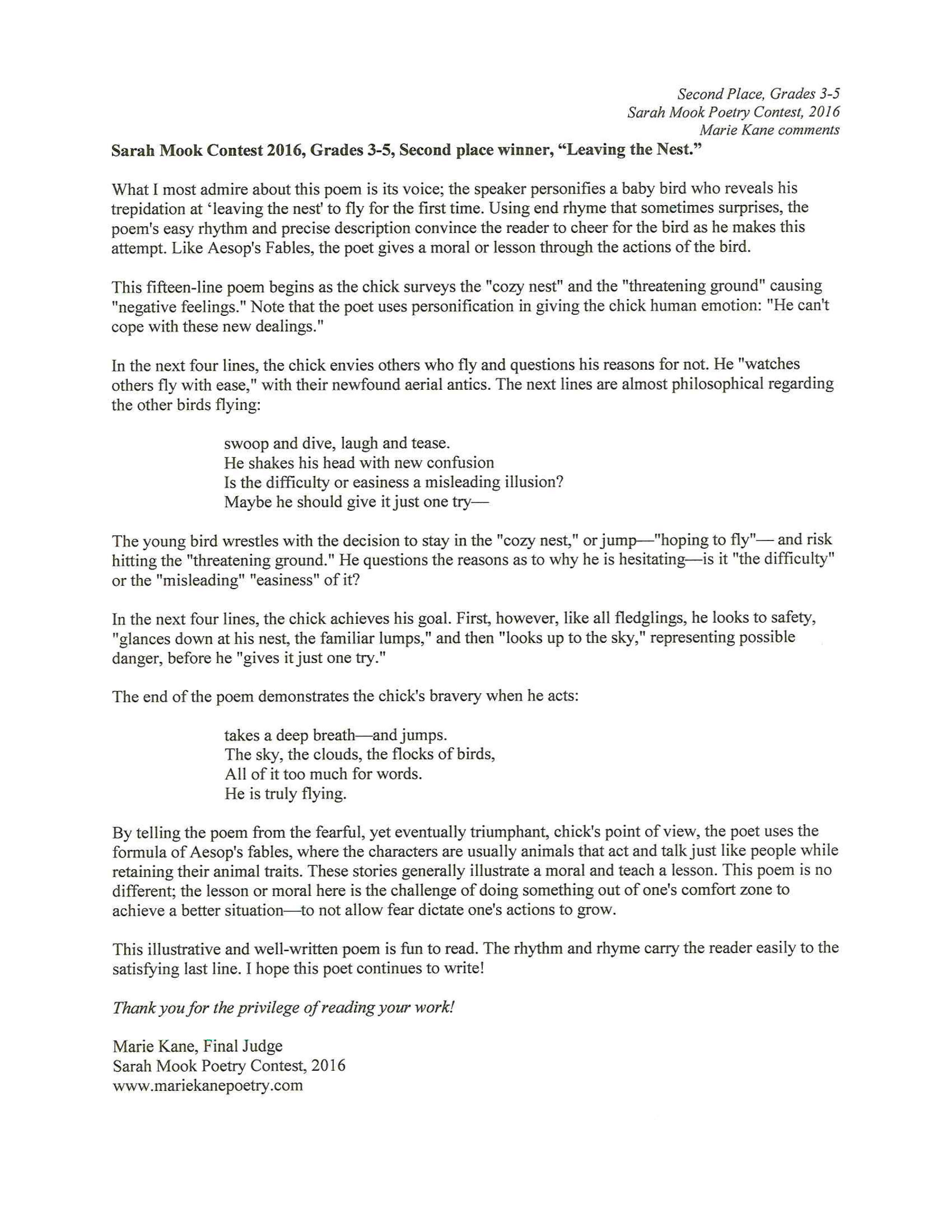 Sarah mook poetry contest 2016 contest guidelines judges comments leaving expocarfo Image collections